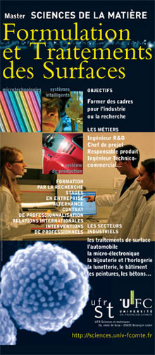 Master FTS Formulation et Traitements des Surfaces