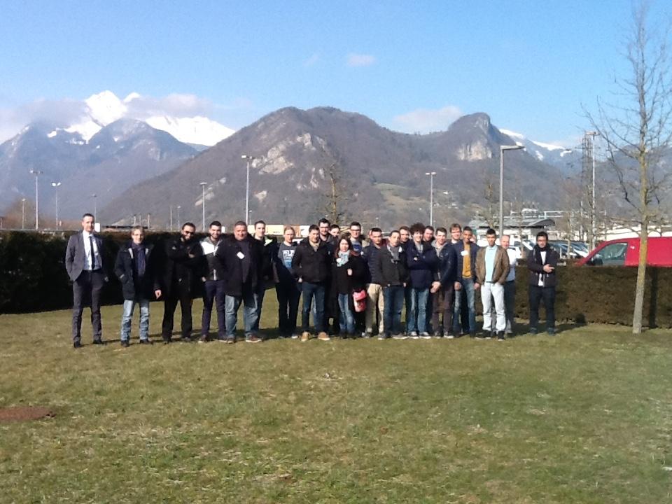 les étudiants de la promotion LP ARIA 2015-2016 chez Staübli à Faverges
