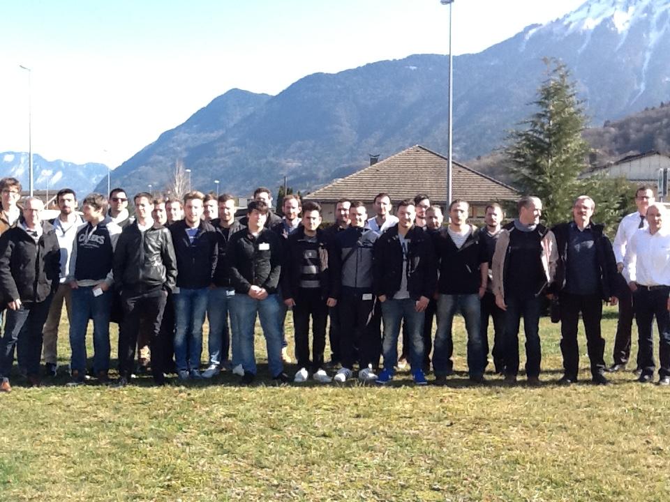les étudiants de la promotion LP ARIA 2016-20176 chez Staübli à Faverges